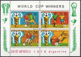 DPR Korea 1978 Sc. 1767a World Cup Winners Argentina '78 Olanda Brasile M. Kempes CTO  FIFA - Korea, North