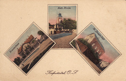 Kieferstädtel (Sośnicowice) - Krankenhaus, Kath. Kirche, St-Joseph Stift - Pologne