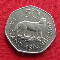 Falkland Islands 50 Pence 1998 KM# 14.2  Malvinas Malwinen - Falkland Islands