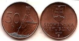 Slovakia - 50 Halierov 2007 UNC Bank Bag - Albanie