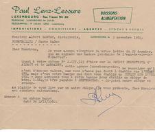 Facture 1/2 Format 1960 / LUXEMBOURG /  LENZ-LESURE / Boissons, Alimentation / Robert Distillerie FOUGEROLLES 70 - Lussemburgo