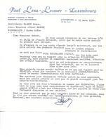 Facture 1/2 Format 1958 / LUXEMBOURG /  LENZ-LESURE / Boissons, Alimentation / Robert Distillerie FOUGEROLLES 70 - Luxembourg