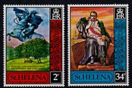 A0567 ST HELENA 1971,  SG279-80  150th Anniv Death Of Napoleon,  MNH - Isola Di Sant'Elena