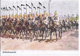 Frühjahresparade - Gemäldekarte Sign.-   - AK 11.264 - Regimientos