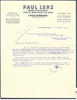 Facture Lettre 1936 / LUXEMBOURG /  LENZ-LESURE / Boissons, Alimentation /  FOUGEROLLES 70 - Luxembourg