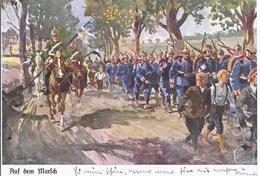 Auf Dem Marsch - Gemäldekarte Sign.-   - AK 11.266a - Regimientos