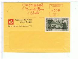 VIEUX PAPIERS-1968-ENVELOPPE TIMBREE-PUB-GUERIMAND PAPETERIE DE VOIRON- - Vieux Papiers