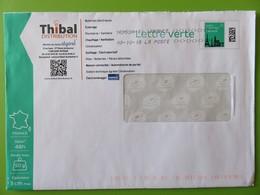 PAP - Lettre Verte 50 G Monuments - Entreprise THIBAL Distribution - St Affrique - Eclairage - Plomberie - 03.10.18 - Entiers Postaux