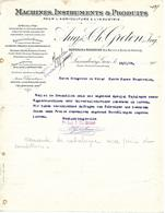 Facture Lettre 1909 / LUXEMBOURG / Luxembourg-Gare / GRETEN / Machines, Instruments Et Produits  / Agriculture Industrie - Luxembourg