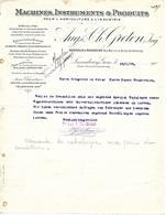 Facture Lettre 1909 / LUXEMBOURG / Luxembourg-Gare / GRETEN / Machines, Instruments Et Produits  / Agriculture Industrie - Lussemburgo