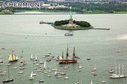 CPM - K - ETATS UNIS - NEW YORK - 4 JUILLET 2015 - L'HERMIONE - LE SALUT A LA STATUE DE LA LIBERTE - VOILIER - Statue Of Liberty