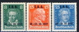 Germania Reich 1927 UN Serie N. 398-400 MH Cat € 70 - Germania