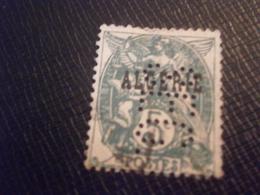 ALGERIE ALGERIA TIMBRE 6 BLANC SEG32 PERFORE PERFORES PERFIN PERFINS PERFORATION LOCHUNG PERCE PERFORATI PERFO - Algérie (1924-1962)