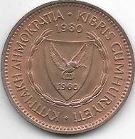 *cyprus 5 Mils   1980  Km 39  Unc - Chypre