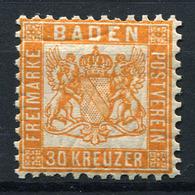 42546) BADEN # 22 B Postfrisch Aus 1862, 90.- € - Bade