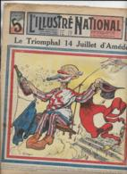 L' ILLUSTRE NATIONAL   N°28  14 Juillet 1912  Le Triomphale 14 Juillet D' Amédée - Bücher, Zeitschriften, Comics