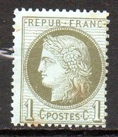 FRANCE - 1872 - Emission Dutype Cérès , IIIème République - N° 50 - 1 C. Vert-olive (**) - 1871-1875 Ceres
