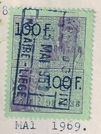 BELGIQUE - TIMBRE FISCAL 100 F - Vert (Oblitéré) - Timbres