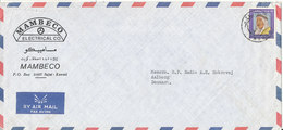 Kuwait Air Mail Cover Sent To Denmark Single Franked - Kuwait