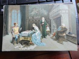 19425) INDUNO UNA PARTITA A SCACCHI A COLORI VIAGGIATA 1916 - Peintures & Tableaux