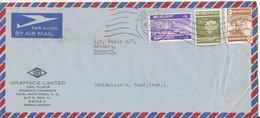 Bangladesh Air Mail Cover Sent To Denmark 13-8-1973 Topic Stamps - Bangladesh