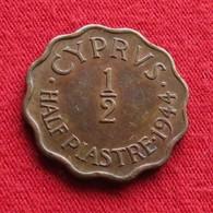 Cyprus 1/2 Piastre 1944 KM# 22a  Chipre Chypre Cipro Zypern - Chypre
