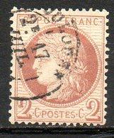 FRANCE - 1872 - Emission Dutype Cérès , IIIème République - N° 51 - 2 C. Rouge-brun - 1871-1875 Ceres