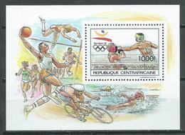Centrafricaine Rép. Bloc-feuillet YT N°103 Jeux Olympiques De Barcelone 1992 Boxe Neuf/charnière * - Central African Republic