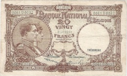 Bélgica - Belgium 20 Francs 22-3-1947 Pick 111.4 Ref 1 - [ 2] 1831-... : Reino De Bélgica