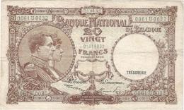 Bélgica - Belgium 20 Francs 22-3-1947 Pick 111.4 Ref 1600-2 - [ 2] 1831-... : Koninkrijk België