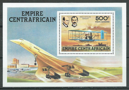 Centrafricain Empire Bloc-feuillet YT N°25 Les Frères Wright Concorde Neuf/charnière * - Central African Republic