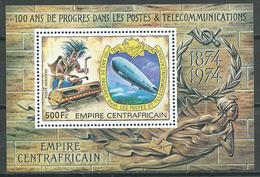 Centrafricaine Rép. Bloc-feuillet YT N°23 Progrès Dans Les Postes Et Télécommunications Neuf/charnière * - Central African Republic