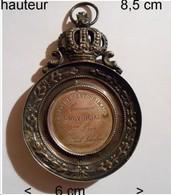 Medaille Trophée Récompense Commune De Ingelmunster - 1869 - Enseignement - Prudent Scholaert - Professionals / Firms
