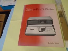FRIDEN 130 ELECTRONIC CALCULATOR INSTRUCTION MANUEL - Old Paper