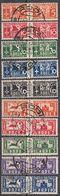 RODI (colonia ITALIANA) - 1934 - Lotto 10 Valori Usati Per Pacchi: Unificato 1/3 E 5/11. - Egeo (Rodi)