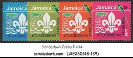 JAMAICA - 1977 6th CARIBBEAN JAMBOREE / SCOUT / BIRDS - 4V - MINT NH - Oiseaux