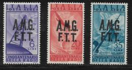 Trieste Zone A Scott # C7,C9,C11 Mint Hinged Overprinted On Italy C116,C118,C120, 1947 - 7. Trieste