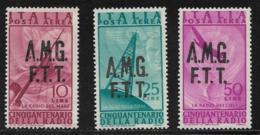 Trieste Zone A Scott # C8,C10,C12 MNH Overprinted On Italy C117,C119,C121, 1947 - 7. Trieste