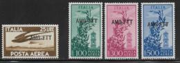 Trieste Zone A Scott # C21,C23-5 Mint Hinged Italy # C112, C123-5 Overprinted, 1949-50 - 7. Trieste