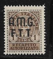Trieste Zone A Scott # EY1 MNH Italy # EY5 Overprinted, 1947 - 7. Trieste