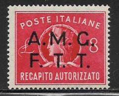 Trieste Zone A Scott # EY2 Mint Hinged Italy # EY7 Overprinted, 1947 - 7. Trieste