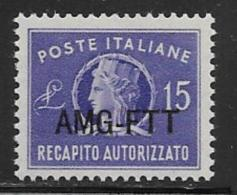 Trieste Zone A Scott # EY4 Mint Hinged Italy # EY8 Overprinted, 1949 - 7. Trieste