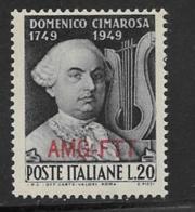 Trieste Zone A, Scott # 57 MNH Italy # 530 Overprinted, 1949 - 7. Trieste