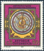 "GMUNDEN V., J. - Austria 1984 Michel # 1794 ** MNH - Mathematics, Mathematician,  ""Imsser Clock"" - Uhrmacherei"
