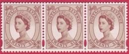 1998 GB 26p Red Brown Decimal Wilding Stamps Strip Of 3 - 2 Phosphor Bands - SG 2032 UM / MNH - 1952-.... (Elizabeth II)