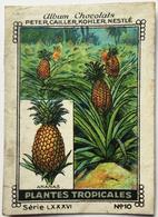 Chromo Image Album Chocolats PETER, CAILLER, KOHLER, NESTLE, Série LXXXVI N° 10 - PLANTES TROPICALES - ANANAS - Nestlé
