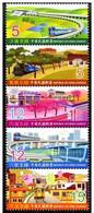 Taiwan 2011 Railway Branch Lines Stamps Tourist Train Sky Lantern Farm Flower Railroad Locomotive - 1945-... Republic Of China