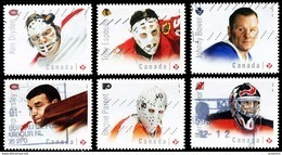 Canada (Scott No.2867-72 - Gardiens De But / Hockey / Goaltenders) (o) - 1952-.... Règne D'Elizabeth II