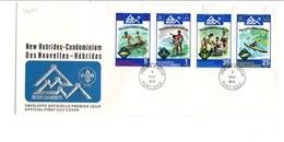 NOUVELLES HEBRIDES FDC 1975 SCOUTISME - PRIX FIXE - FDC