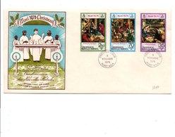 NOUVELLES HEBRIDES FDC 1976  NOEL LEGENDE ANGLAISE - PRIX FIXE - FDC